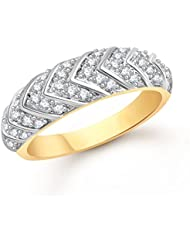 Meenaz Fancy Ring For Girls & Women Gold Plated In American Diamond Cz FR00496