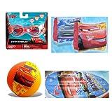 Cars Summer Fun Pool Set Goggles, Beach Ball, Swim Raft, Arm Floats