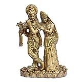 Matchless Gifts Polyresin Radha Krishna (Golden, 17 Cm X 9 Cm X 28 Cm)