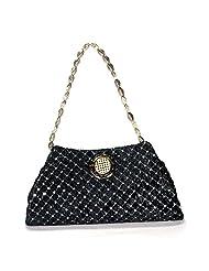 Arisha Kreation Co Women Hand Made Hand Purse & Clutch Bag (Black)