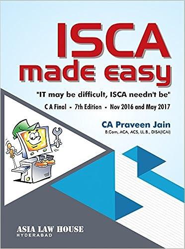 ISCA made easy [CA Final] Nov. 2016 Onwards Paperback – 2016