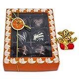 Chocholik Belgium Chocolate Gifts - Attractive Treat Of Chocolate Hearts With Small Ganesha Idol - Diwali Gifts