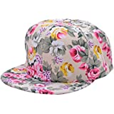 Generic Rose Red : New Arrive Hats Sun Hats Cap Flowers For Unisex Casual Hip Pop Hats Fashion Baseball Cap Snapback 63