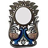 Divraya Wood Peacock Wall Mirror (30.48 Cm X 4 Cm X 45.72 Cm, DA123)