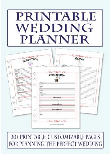 Printable Wedding Planner Checklists