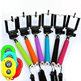 Genuine Product! Extendable Selfie Handheld Stick Monopod With Adjustable Phone Holder And Bluetooth Wireless...