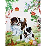 "Dolls Of India ""Cute Puppies"" Reprint On Paper - Unframed (50.80 X 39.37 Centimeters)"