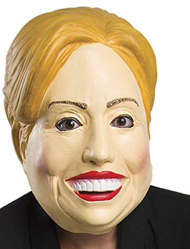 Trump and Clinton Halloween Costumes - Choose Edgy or Funny - Rubies Costume Company 33973 Deleter of the Free World Latex Mask and Party Decor, Hillary