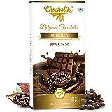 Chocholik Belgium Chocolate - 33% Chocolates Milk Cacao Bar - Luxury Belgium Chocolates 100g (3.5 Oz)