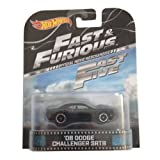 '08 Dodge Challenger SRT8 Fast & Furious Fast Five Hot Wheels 1:64 Retro Entertainment Die Cast by Hot Wheels