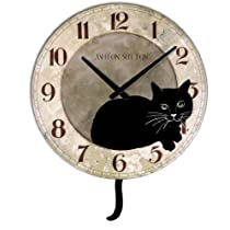 Kate Wall Clock with Cat Design