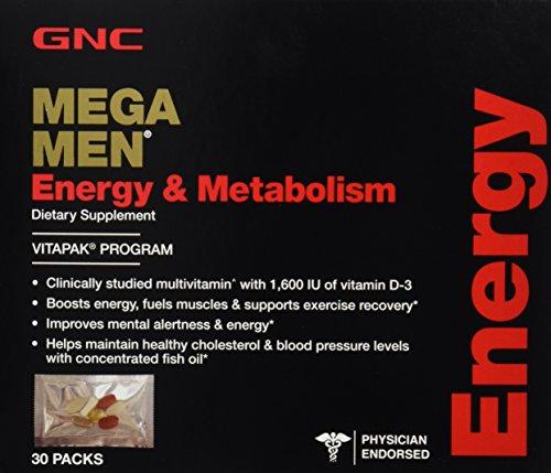 GNC Mens Mega Men Energy & Metabolism Vitapak - 30 count box