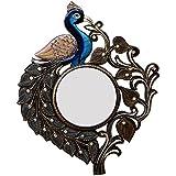 Ghanshyam Art Wood Peacock Wall Mirror (53.34 Cm X 4 Cm X 63.5 Cm, GAC062)