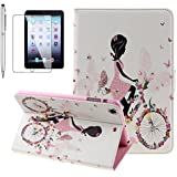 IPad Air Case, Gift-Hero(TM) Fashion Girls Design Bling Bling Diamond Decoration Leather Cases Shell With Magnetic Closure Pouch Stand Protective Smart Case For Apple IPad Air / IPad 5 (Bike Girls)