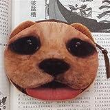 Gossipgirl Animals Dog Face Small Zip Purse-Labrador Golden Retriever