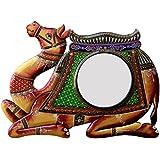 Divraya Wood Camel Wall Mirror (45.72 Cm X 4 Cm X 30.48 Cm, DA117)