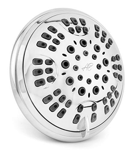 Aqua Elegante 6 Function Luxury Shower Head - Best High Pressure, Wall...
