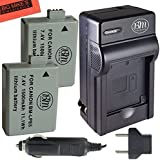 2 Pack Of LP-E5 Replacement Batteries And Battery Charger Kit For Canon EOS Rebel XS Rebel T1i Rebel XSi 1000D...
