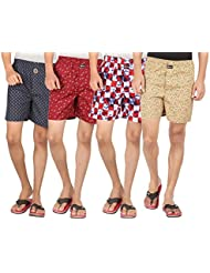 Joven Assorted Printed Cotton Boxer Pack Of 4