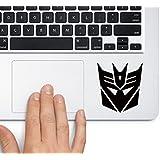CVANU Decepticon Logo Transformers Laptop Vinyl Sticker (Black)