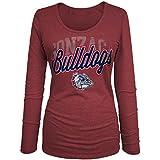 NCAA Gonzaga Bulldogs Women's Tri-Blend Long Sleeve U-Neck Shirt, Large, Red