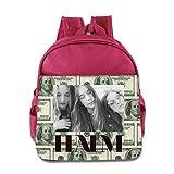 TKOTK Haim Three Sisters Band Singer Logo Childrens School Backpacks Pink