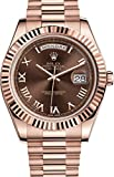 ROLEX DAY-DATE II 41 PRESIDENT ROSE GOLD WATCH CHOCOLATE DIAL 218235