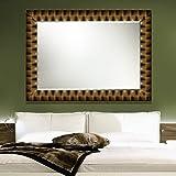 Elegant Arts & Frames Black And Gold Wall Decorative Wood Mirror 48 Inch X 36 Inch