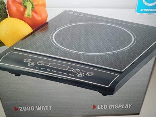 Cook Top Plaque de cuisson à induction avec écran LED et fonction minuteur 2000W ...