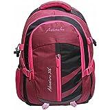 Attache Adventure 30lt School Bag (Pink & Black) With Rain Cover
