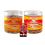 Chocholik Dry Fruits - Almonds Mexican Salsa & Lemon Pepper With 3d Mobile Cover For IPhone 6 - Diwali Gifts -...