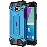 Cubix Defender Dual Layer Shockproof Bumper Back Case Cover For Samsung Galaxy A5 2017 (Blue)