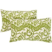 Ethnic 27x18 Cushion Covers Cotton Living Room Decor Throw Pillows Off White Pillow Covers Floral Printed By Rajrang