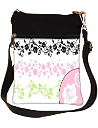 Snoogg A Set Of Decorative Brushes All The Brushes Are Separable From The Backgrou Cross Body Tote Bag / Shoulder...