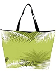 Snoogg Palm Tree With Flower Waterproof Bag Made Of High Strength Nylon