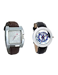 Gledati Men's White Dial & Foster's Women's White Dial Analog Watch Combo_ADCOMB0002280