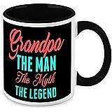 Gift For Grandfather - HomeSoGood Grandpa The Man The Myth The Legend White Ceramic Coffee Mug - 325 Ml