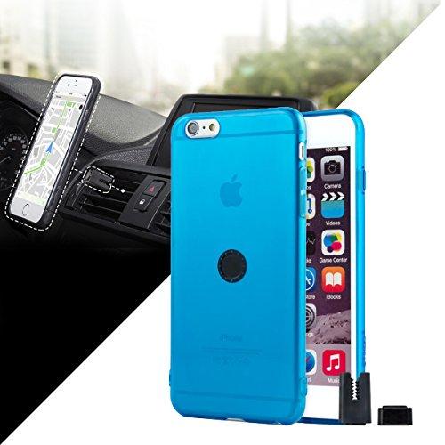 Funda transparente con soporte magnético de coche iPhone 6 Plus...