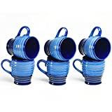 Cultural Concepts Blue Studio Cara Tea Cups- Set Of 6