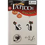 Temporary Tattoos Halloween (Set Of 15 Tattoos Assorted Pictures)
