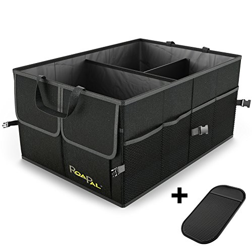 Premium Quality Auto Trunk Organizer by RoadPal For Car, SUV, Minivan, Truck, Durable Collapsible Cargo Storage Bonus Dashboard Non-Slip Pad Lifetime Warranty