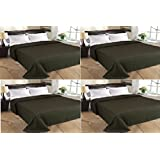 MSE Set Of 4 Home Collection Premium Quality Double Bed AC Bedspread Blanket - B06WVBP2NM