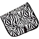 Household Essentials Hanging Travel Cosmetic Bag Zebra Print, Black/White, One Size