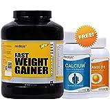 Medisys Fast Weight Gainer Banana 3Kg [Free-Calcium + Magnesium & Vitamin D3 - 400 IU]