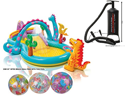 """Intex Dinoland Inflatable Play Center, 31"""" X 90"""" X 44"""", For Ages 2+"""