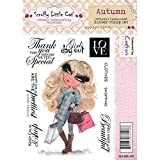 Crafters Companion Scruffy Little Cat Rubber Stamp - Autumn by Crafters Companion