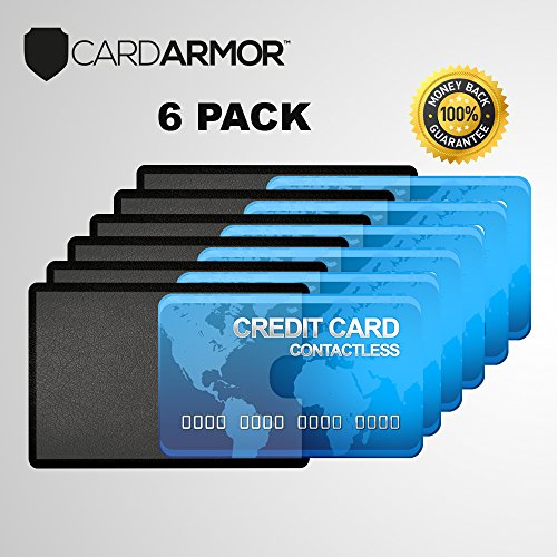 RFID Blocking Sleeve, Credit Card Holder, Social Security Card, Credit Cards, Identity Theft Protection +Ebook