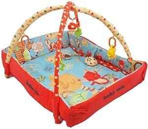 Baby Krabbeldecke Decke Nest 2 in 1 mit Spiel Bogen Wild