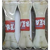 TREATS Dog Rawhide Pressed Dog Bone- 6 Inches, Pack Of 3