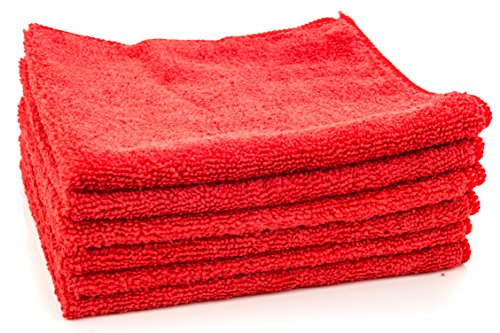 Dry Rite Premium Microfiber Cloth – Pack of 6 Best Cleaning Towels for Fine Automobile finishes, Car Windows & Interiors- Great for Glass- Non Scratching, Streak Free- Use Wet or Dry- 16″ x 16″
